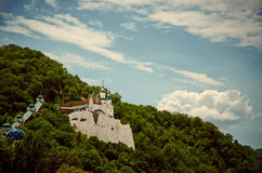 Castle on the chalk hill Royalty Free Stock Images