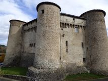 Castle of Chalmazel in auvergne, france royalty free stock photo