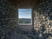Castle chamber with window Stock Photography