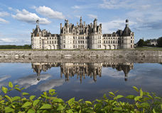 Castle of Chambord. Château de Chambord with reflections, Loire Valley, France Stock Photography