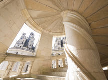 Castle of Chambord stairs, Loire Valley Royalty Free Stock Image