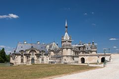 Castle of Chantilly Royalty Free Stock Photos