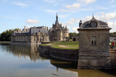 Castle in Chantilly Royalty Free Stock Images