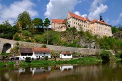 Castle and Chateau. In the South Bohemian stock image