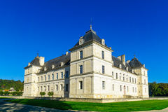 The castle Chateau of Ancy-le-Franc Royalty Free Stock Photos