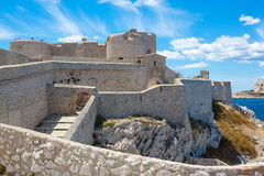 Castle Chateau d'If, near Marseille France. On sunny warm day in Provence Royalty Free Stock Images