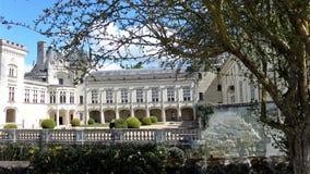 Castle Chateau de Breze nel Loire Valley Francia fotografia stock