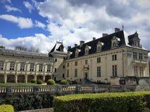Castle Chateau de Breze nel Loire Valley Francia Immagine Stock