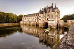 Castle chateau de Chenonceau, France. The Chateau de Chenonceau, France. This castle is located near the small village of Chenonceaux in the Loire Valley, was stock photos