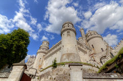 Castle chateau de pierrefonds. Beautiful medieval castle in french near to paris Stock Image