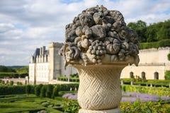 Castle Chateau de Villandry Lizenzfreie Stockfotos