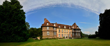 Castle chateau du breuil panorama Royalty Free Stock Images