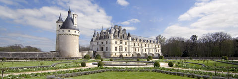 Castle of Chenonceau Stock Image