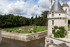 Castle of Chenonceau. Royalty Free Stock Image