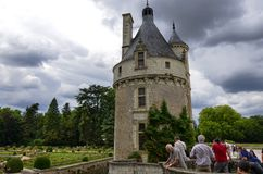 Castle of Chenonceau, Loire region, France. June 27, 2017 snapshot. Royalty Free Stock Image