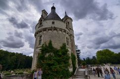 Castle of Chenonceau, Loire region, France. June 27, 2017 snapshot. Royalty Free Stock Photos