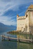 Castle Chillon Chateau de Chillon at Lake Geneva in Montreux, Switzerland Stock Photos