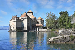 The castle Chillon on Lake Royalty Free Stock Images