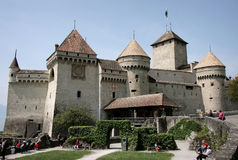 Castle of Chillon, Switzerland Stock Images