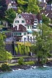 Castle Chillon view stock photo