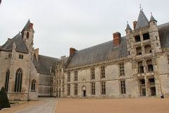 The castle of Châteaudun - France Royalty Free Stock Images