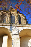 Castle church in Altenburg. According to castle church in Altenburg of the castle ascent up seen Stock Photos