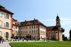 Castle and church at Mainau Royalty Free Stock Photography