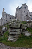 Castle and church in Mount's Bay. Royalty Free Stock Photography