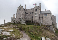 Castle and church in Mount's Bay. Royalty Free Stock Images