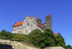The castle and church, Quedlinburg, Germany Stock Image