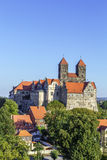 The castle and church, Quedlinburg, Germany Royalty Free Stock Photo
