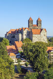 The castle and church, Quedlinburg, Germany Royalty Free Stock Images