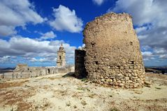 Castle and church ruins, Medina Sidonia, Spain. Royalty Free Stock Image