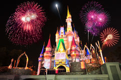 Castle Cinderella της Disney Στοκ φωτογραφία με δικαίωμα ελεύθερης χρήσης