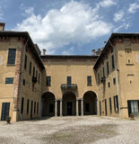 Castle of Cislago Lombardy, Italy. Medieval castle of Cislago Varese, Lombardy, Italy, exterior court stock images