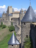 Castle of the Cité de Carcassonne ( France ) Stock Photo
