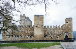 Castle of the city of Frias Burgos, Spain Royalty Free Stock Photography