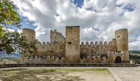 Castle of the city of Frias Burgos, Spain. In Europe stock photo