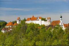 Castle of city Fuessen in Bavaria Stock Photos