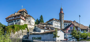 Castle and City hall in Frauenfeld Stock Photo