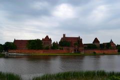 Castle Malbork stock photo