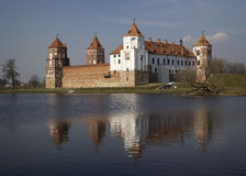 Castle in the city Mir, Belarus Royalty Free Stock Image