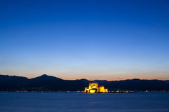 The castle in the city of Nafplio. Greece Royalty Free Stock Photo