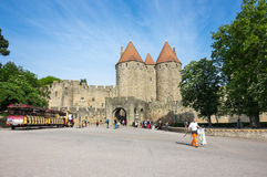 Castle and city walls of Carcassonne Royalty Free Stock Photo