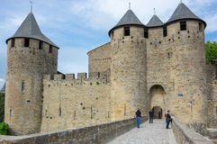 Castle and city walls of Carcassonne Royalty Free Stock Photography