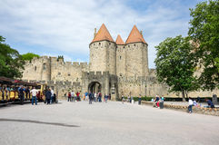 Castle and city walls of Carcassonne Royalty Free Stock Photos