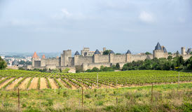 Castle and city walls of Carcassonne Royalty Free Stock Image
