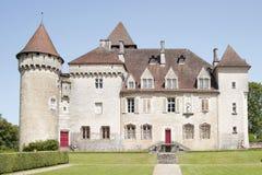 Castle of Clermont (fr.Château de Cléron). Region Franche-Comt Stock Image
