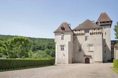 Castle of Clermont (fr.Château de Cléron). Region Franche-Comt Stock Photography