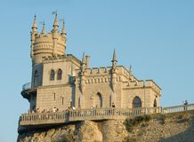 Castle on cliff. Castle on precipice of cliff Royalty Free Stock Photography